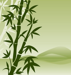 landscape with bamboo vector image vector image