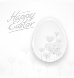 white easter floral egg vector image vector image