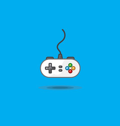 icon of gamepad to play station on green vector image vector image