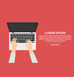 Man working with laptop business or freelance vector