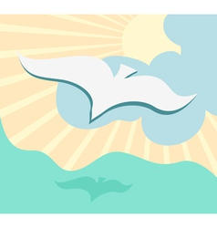 Seagull background vector image