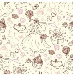 Seamless wedding patterns vector image vector image