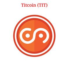 Titcoin tit logo vector