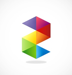 colorful shape S business logo vector image