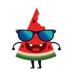 Cute watermelon character design Cartoon vector image vector image
