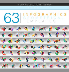 mega collection of color geometrical infographic vector image