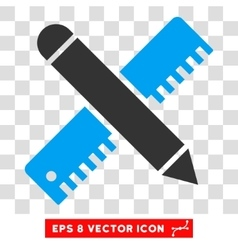 Ruler and pencil design tools eps icon vector