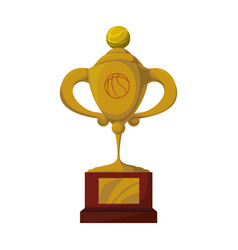 trophy cup championship vector image vector image