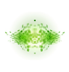 abstract background squares fish green vector image vector image