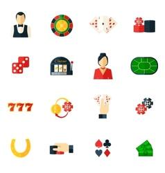 Casino Icon Flat vector image vector image