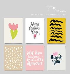 Creative universal card vector image vector image