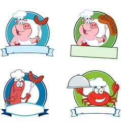 Food Banners Collection vector image vector image
