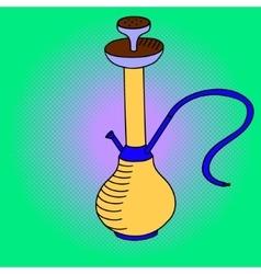 Hookah Pop art vector image vector image