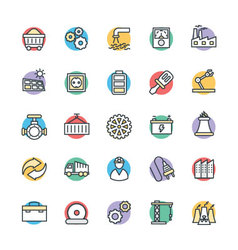 Industrial cool icons 2 vector