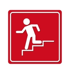 man running stairs emergency icon vector image