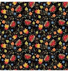 Russian floral ornament vector