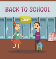 school colored orthogonal background vector image