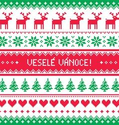 Vesele Vanoce- Merry Christmas card in Czech vector image