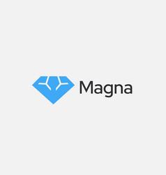 abstract diamond gym logo icon design modern vector image