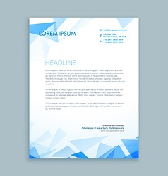 Abstract triangle letterhead design vector