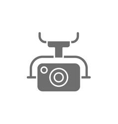 action camera for drone extreme video cam grey vector image
