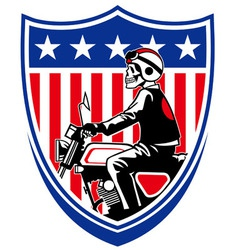 american biker vector image