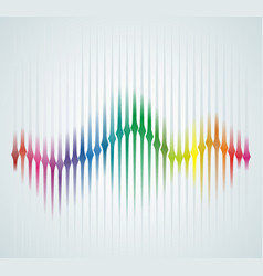 Background with color sound wave from equalizer vector