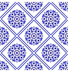 beautiful tile background vector image
