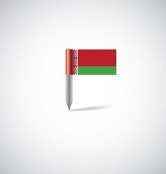 Belarus flag pin vector