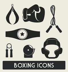 Boxing label design eps10 graphic vector