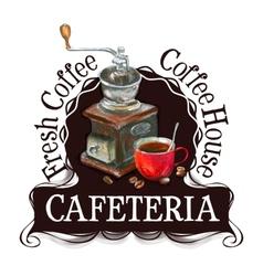 Cafeteria logo design template fresh coffee vector