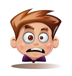 Cartoon head boy funny smiley vector