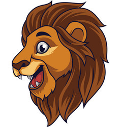 cartoon lion head smiling vector image