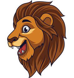 cartoon lion head smiling vector image