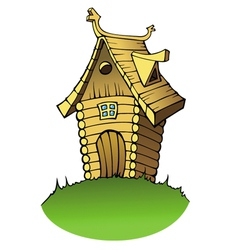 Cartoon wooden house vector