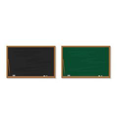 chalkboard in school blackboard with chalk in vector image