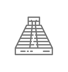 Chichen itza pyramid of kukulkan palenque tulum vector
