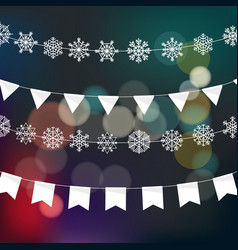 christmas garland design template festive vector image