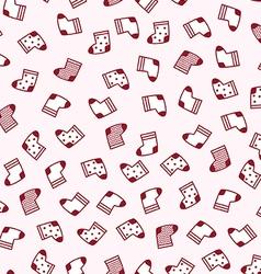 Christmas socks seamless pattern vector image