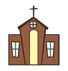 church building religion isolated icon vector image