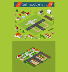 Cityscape city street public house vector