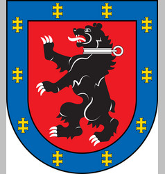 Coat of arms of telsiai county in lithuania vector