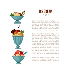 Colorful tasty ice cream vector