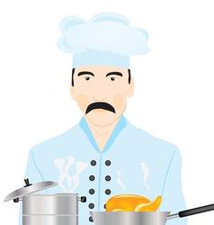 Cook kitchen vector