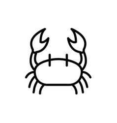 crab icon sign vector image