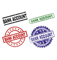 damaged textured bank account seal stamps vector image