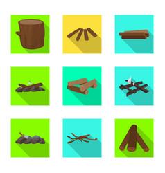 Design material and logging symbol set vector