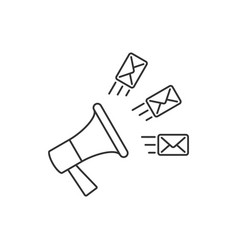 email marketing linear on vector image