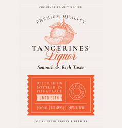Family recipe tangerines liquor acohol label vector