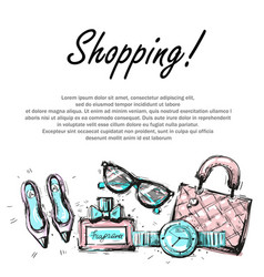 Fashion shopping design template with fashion vector